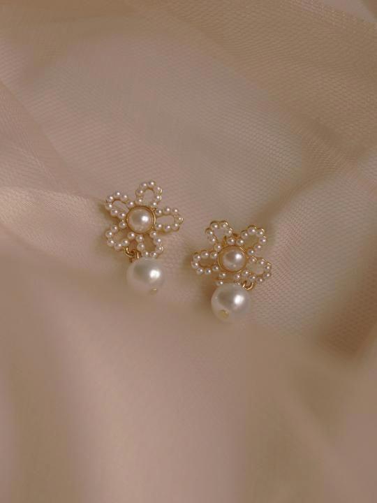 Gabi The Label #pearlearrings | Gold earrings designs, Small .