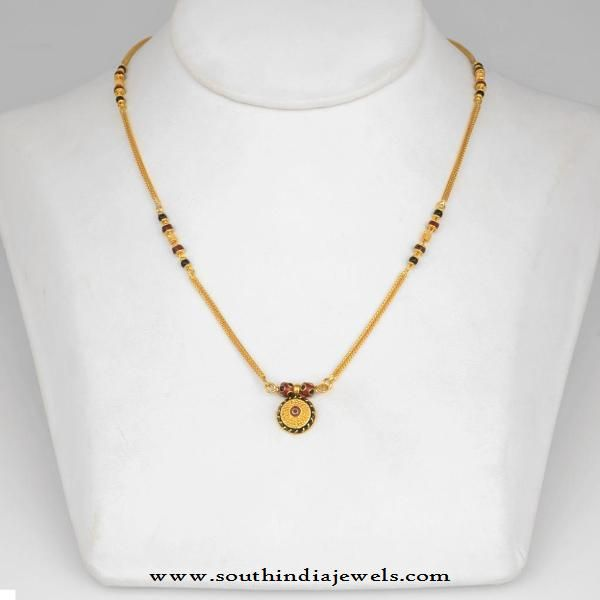 Simple Gold Mangalsutra Design | Gold mangalsutra designs, Gold .