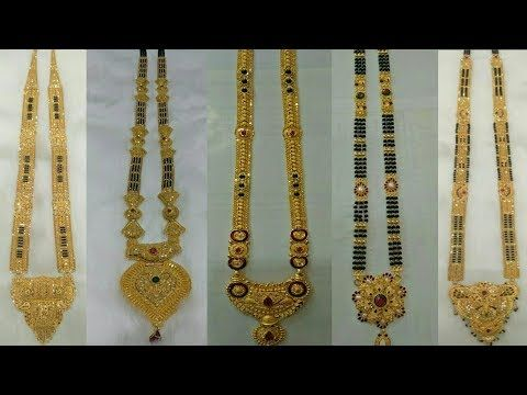 Latest Long GOLD MANGALSUTRA Designs - YouTube (With images .