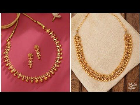 Simple Gold Necklace Designs - YouTu