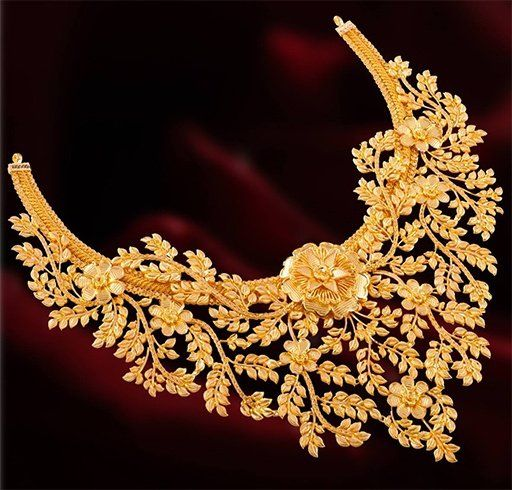 Bridal Gold Necklace (With images) | Bridal gold jewellery, Pure .