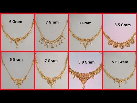 Latest Gold Necklace Designs Under 10 Grams Light Weight Short .
