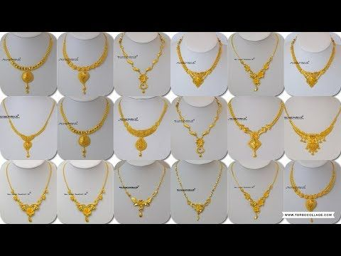 Latest Light Weight Gold Necklace Designs | Gold Necklace For .