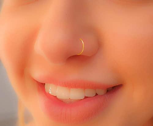 Amazon.com: Nose Hoop,22G Nose Hoop,Nose Ring hoop,tiny nose hoop .