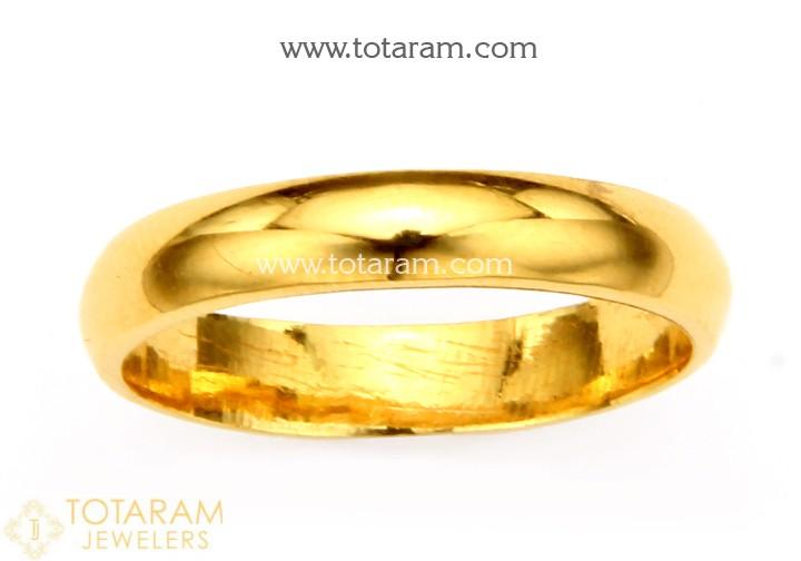 2K Gold Wedding Band Ring for Men - 235-GR6090 in 6.050 Gra