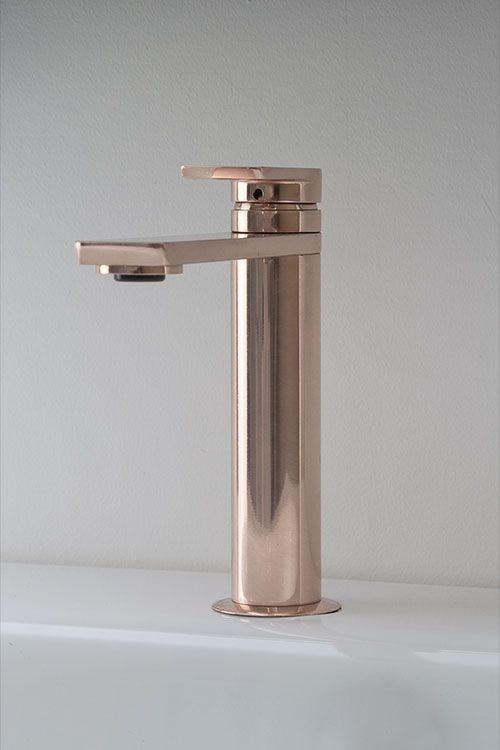 Kara Rose Gold Basin Mixer (42AA) | Gold bathro