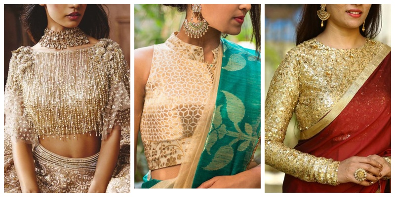20 golden blouse design images that will complement most sarees in .