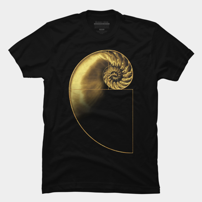 Fibonacci's Golden Ratio T Shirt By Artizan16 Design By Huma