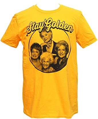 Amazon.com: Golden Girls Mens T-Shirt - Stay Golden Phoo Circle .