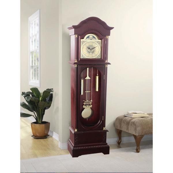 Traditional 72 in. Cherry Floor Standing Grandfather Clock GF1003 .