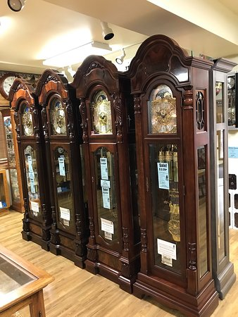 Hermle German Grandfather Clocks - Picture of Frankenmuth Clock .