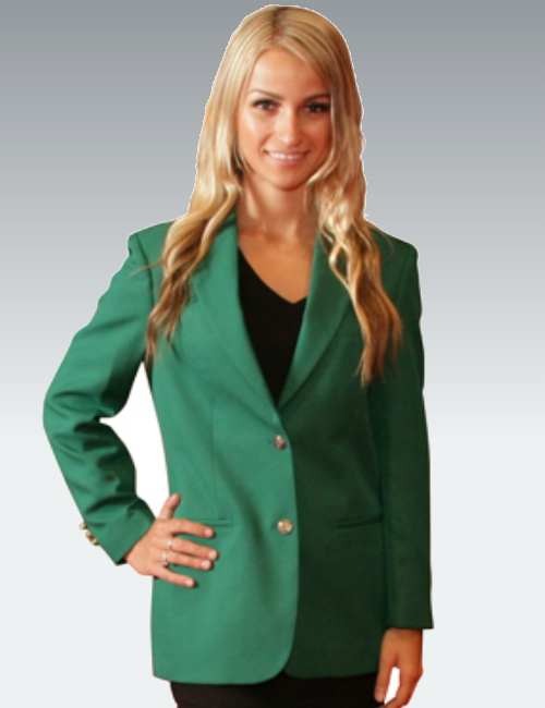 Irish Green Womens Blazer (Kelly Green) - starting at $