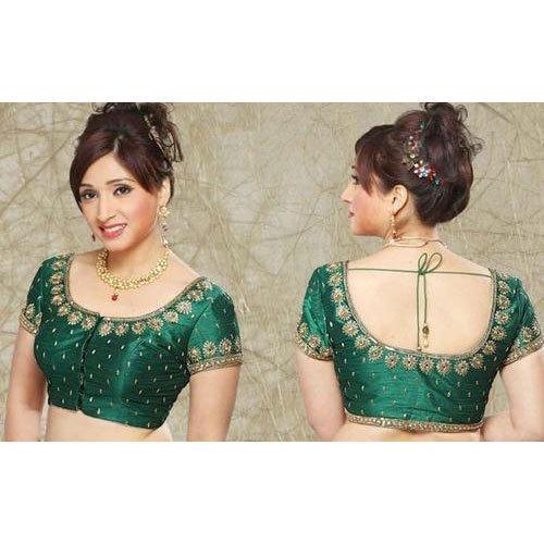Green Silk Designer Blouse, Rs 150 /piece Nidhi Enterprises | ID .