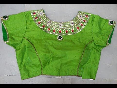 Top 20 Parrot Green Fancy Designer Blouse Designs - YouTu