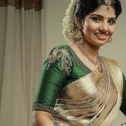 Traditional South Indian Blouse Design Green Color (With images .