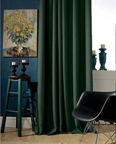 Amazon.com: Dark Green Blackout Curtain Handmade Custom Drapery .
