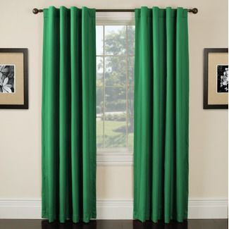 kelly green curtains for $29 thanks to @laura (With images) | Cool .