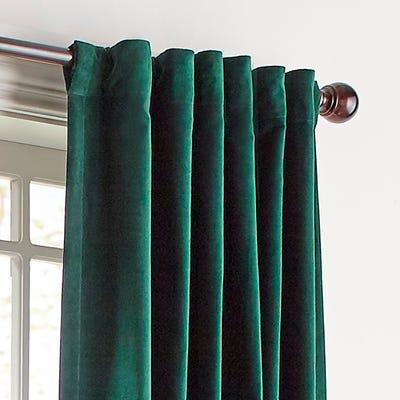 Sheridan Velvet Green Curtain | Pier