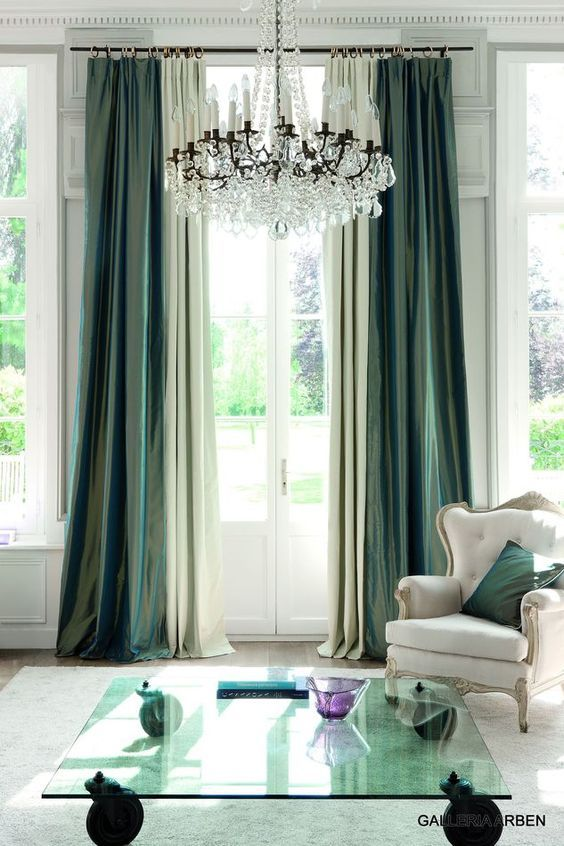 dark emerald curtains (With images) | Living room drapes, Green .