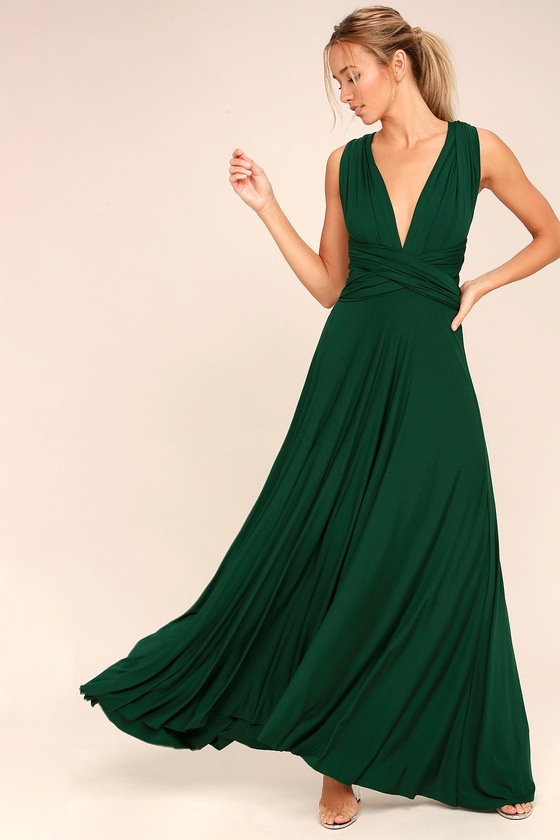 Awesome Forest Green Dress - Maxi Dress - Wrap Dre