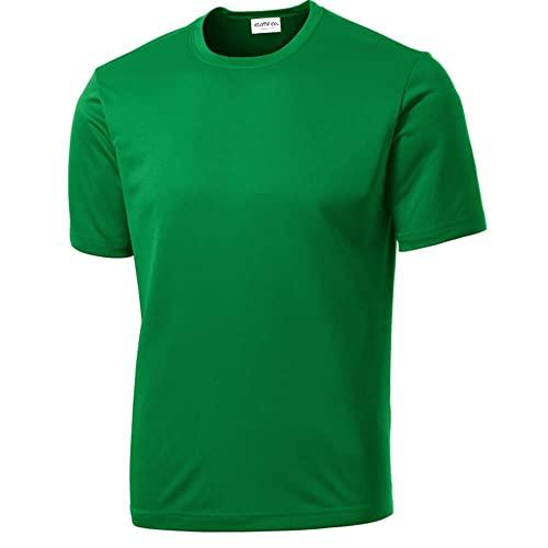 Kelly Green Running Shirts: Amazon.c