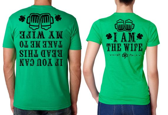 Saint Patrick's Day Funny T-shirts Couple tees Green | Et