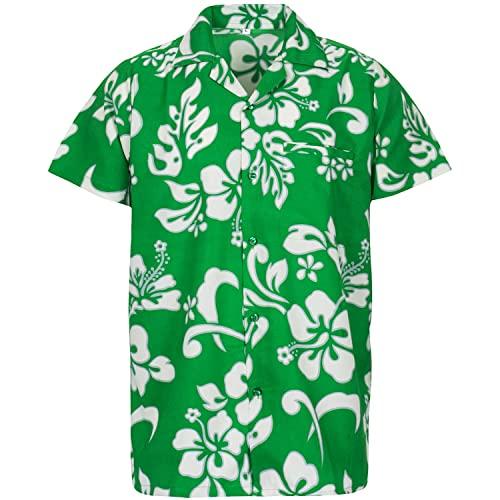 Green Hawaiian Shirt: Amazon.c