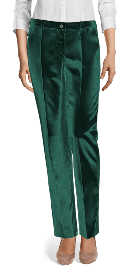 Green Velvet flat-front Dress Trouser £65 | Sumissu