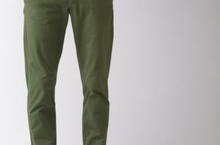 Men's Olive Green Printed Brooklyn Fit Chino Trouse