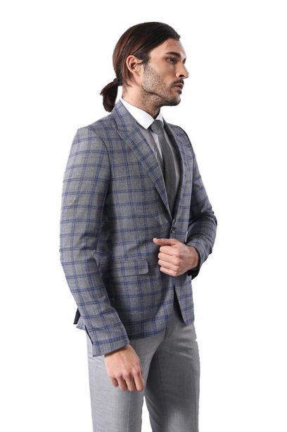Checked Grey Men's Blazer | Wes