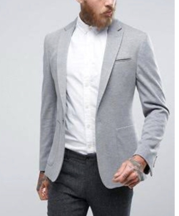 Which colour combinations of a shirt and pants goes with a grey .