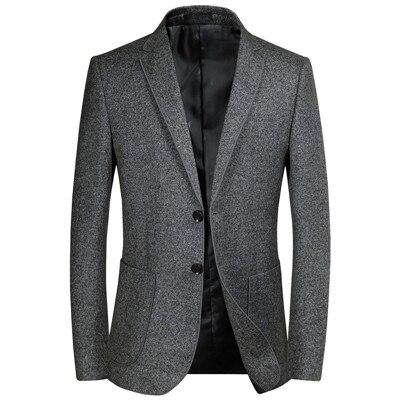 2019 New Men's Blazers Male Autumn Winter mens Classic Grey Blazer .