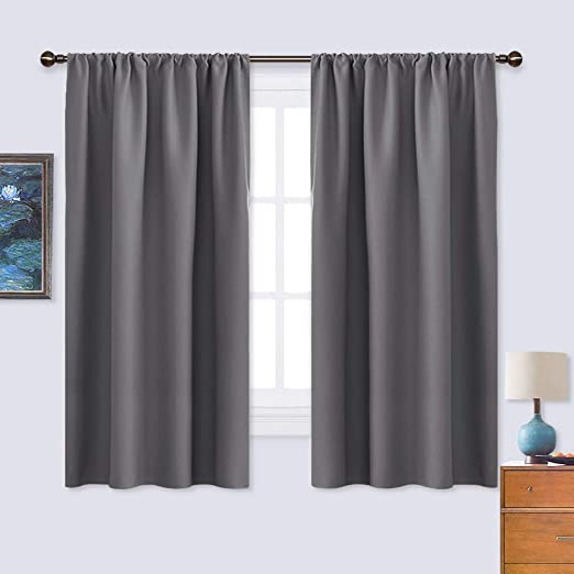 Amazon.com: NICETOWN Grey Window Curtains for Bedroom - Home .