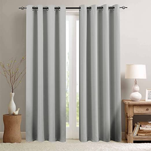 Amazon.com: Grey Blackout Curtains for Bedroom 84 inches Long .