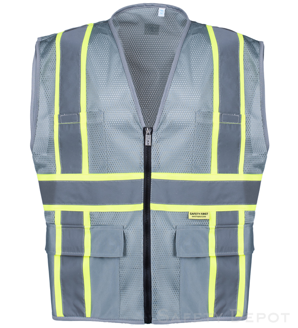 Professional Grey Mesh Safety Ve