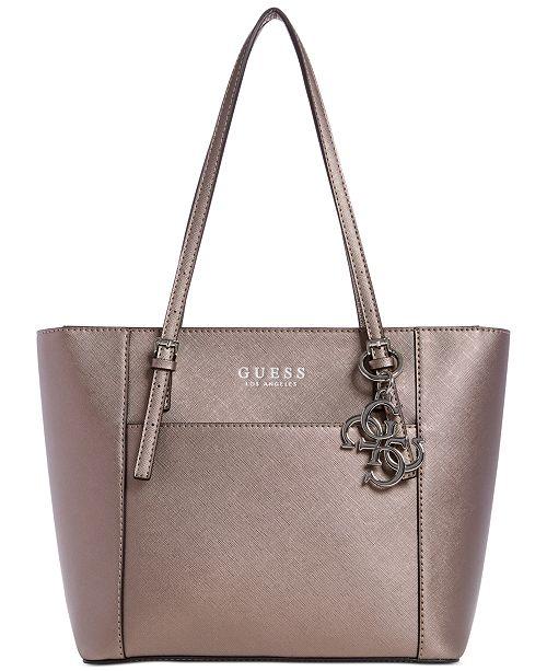 GUESS Georgia Metallic Tote Bag & Reviews - Handbags & Accessories .
