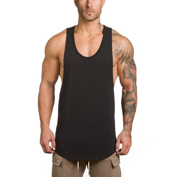 Custom Gym vest dropped armhole singlet For Men, View gym singlets .