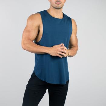Custom Made Training Clothing Fitness Wear Sleeveless Scoop Bottom .