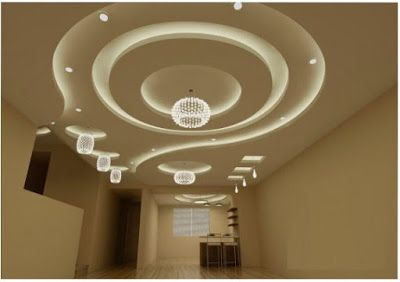Modern false ceiling gypsum board ceiling design for living room .