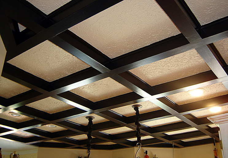 14 gypsum false ceiling design with wooden decorations for living .