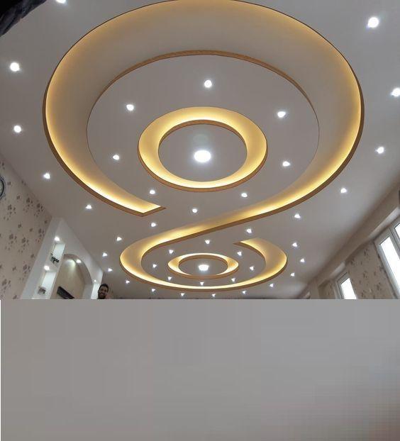 latest gypsum board false ceiling design for living room pop .