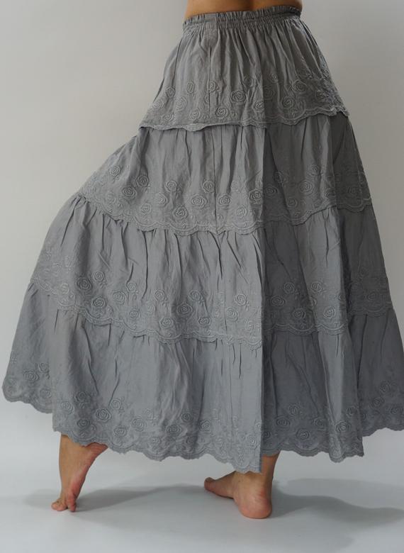 SK0534 bohemian skirts long gypsy skirts summer skirts | Et
