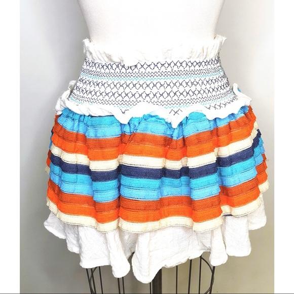 Surf Gypsy Skirts | Tiered Ruffle Mini Skirt | Poshma