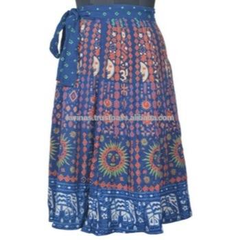 Cotton Wrap Skirt Hippie Wrap Around Magic Skirts Boho Gypsy .