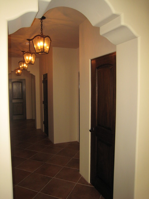 Shaped Arch Hallway - Mediterranean - Hall - Los Angeles - by RA .