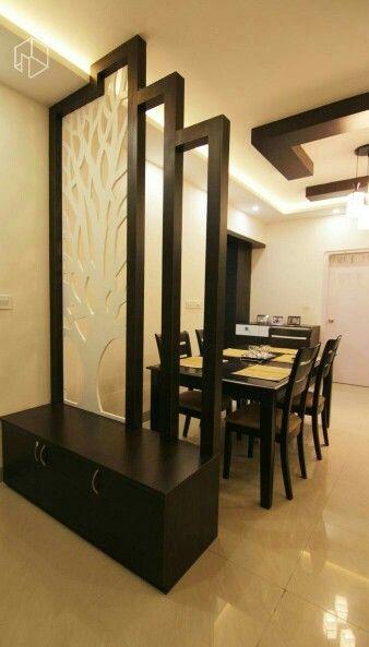 Living hall | Modern room divider, Room partition desig