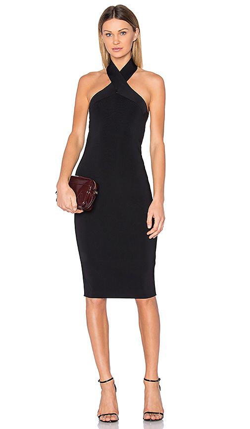 T by Alexander Wang Knit Halter Dress in Black | REVOL