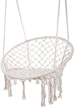 Amazon.com: Karriw Hammock Chair Macrame Swing,Cotton Hanging .