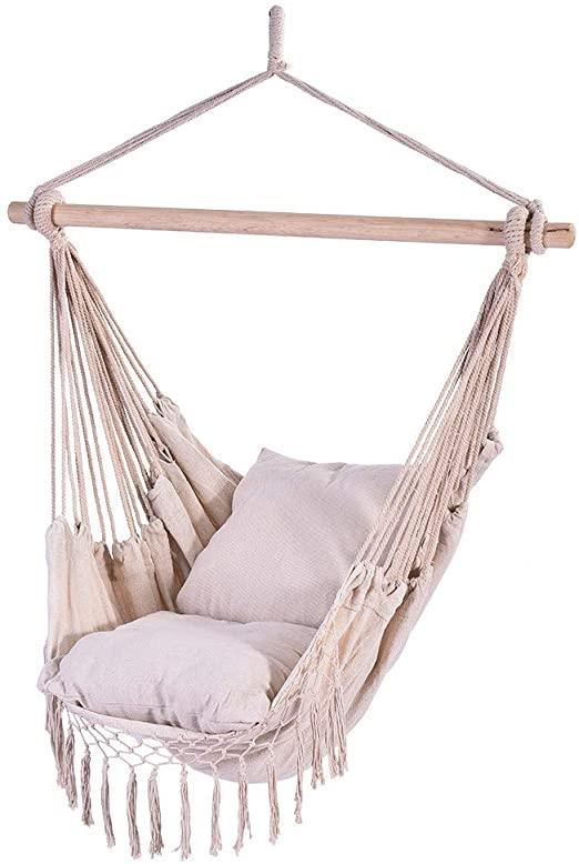Amazon.com: WM & MW Hammocks Hanging Rope Hammock Chair Swing Seat .
