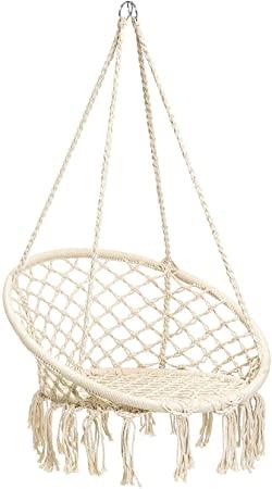 Amazon.com: CCTRO Hammock Chair Macrame Swing,Boho Style Rattan .